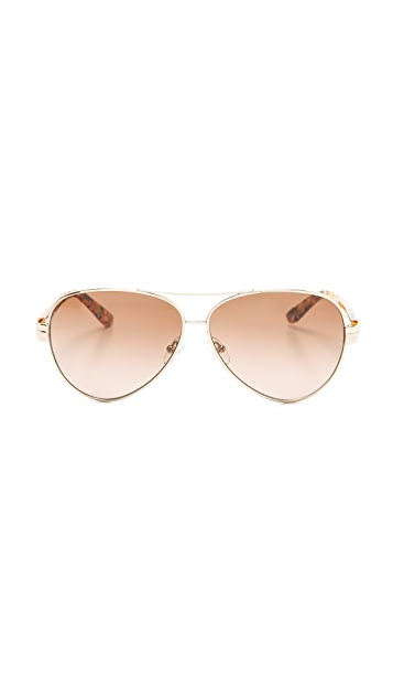 Tory Burch Modern Aviator Sunglasses