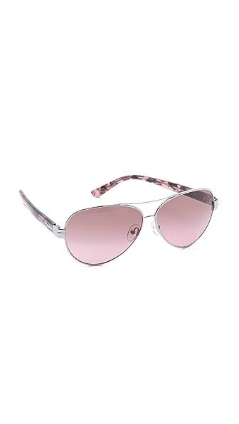 Tory Burch Modern Aviator Sunglasses