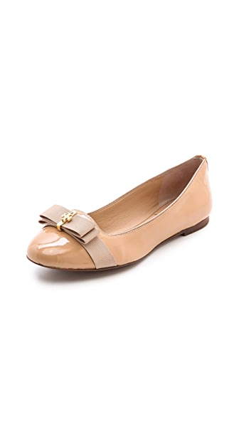Tory Burch Trudy Smoking Slippers with Bow