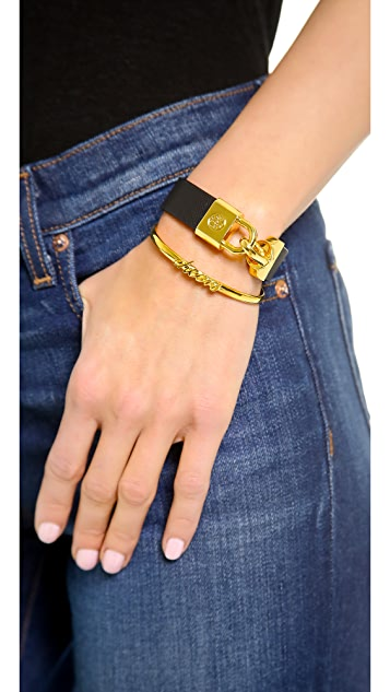 Tory Burch Lock Closure Bracelet