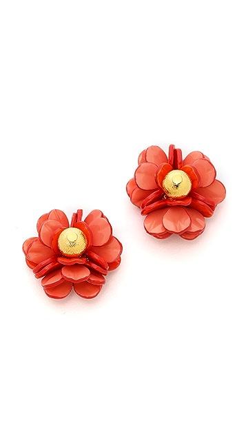 Tory Burch Pentier Rose Earrings