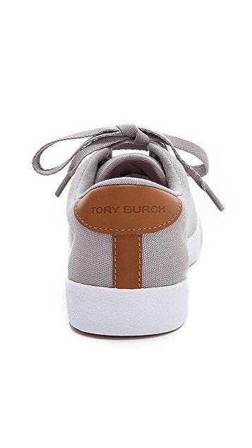 Tory Burch Wally Logo Stitch Sneakers
