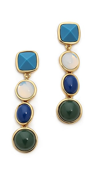 Tory Burch Audrey Stone Drop Earrings