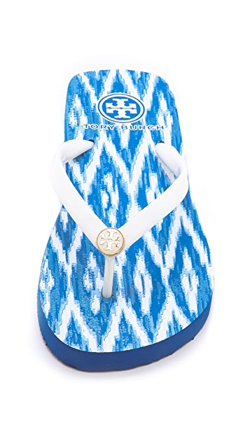 Tory Burch Think Ikat Flip Flops
