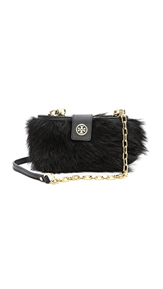 Tory Burch Fur Smartphone Cross Body Bag