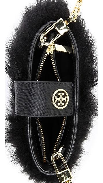 Tory Burch Fur Smartphone Cross Body Bag