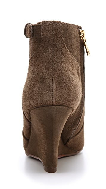 Tory Burch Milan Suede Wedge Booties
