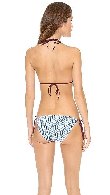 Tory Burch Baja Triangle Bikini Top