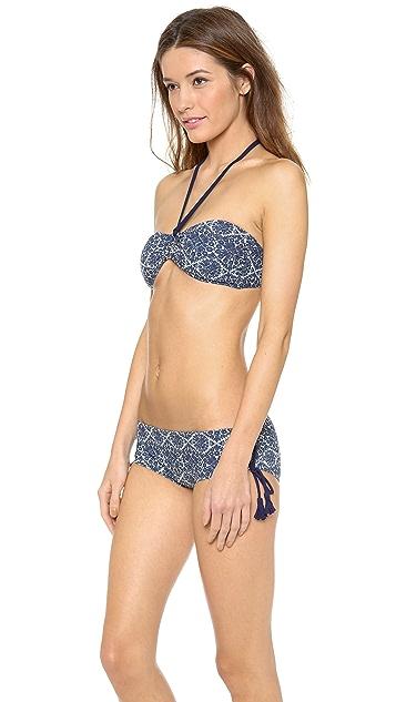 Tory Burch Margherita Bandeau Bikini Top