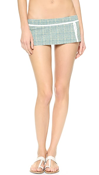 Tory Burch Baleares Skirted Bikini Bottoms