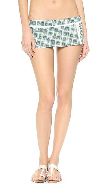 Tory Burch Baleares Skirted Bikini Bottoms