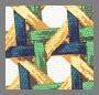 Wicker Print/Leaf Green