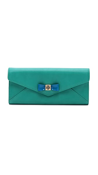 Tory Burch Bow Envelope Continental Wallet