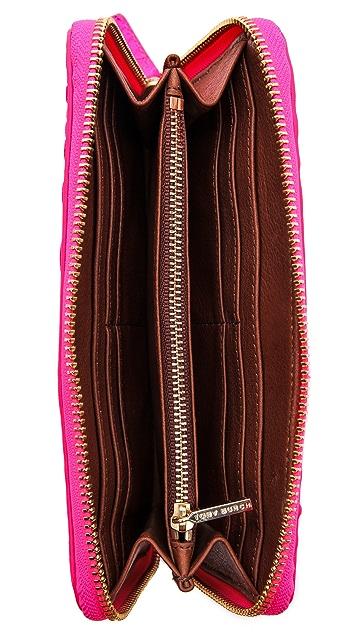 Tory Burch Neon Zip Continental Wallet