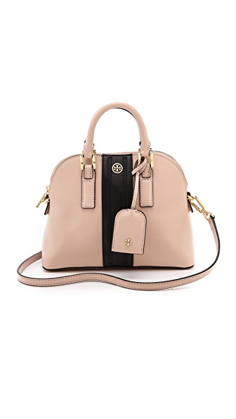 Tory Burch Robinson Stripe Mini Dome Bag
