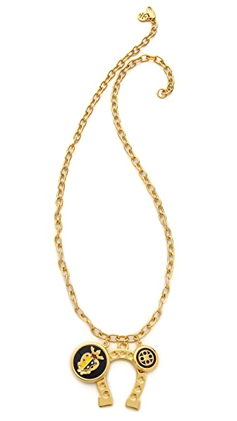 Tory Burch Dellora Cluster Charm Necklace