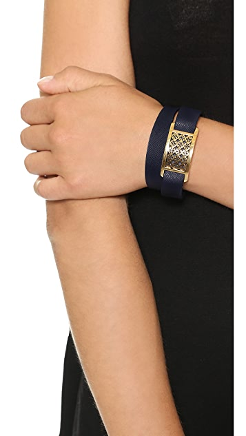 Tory Burch Kinsley Double Wrap Bracelet