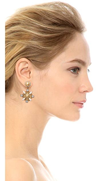 Tory Burch Selma Maltese Cross Drop Earrings