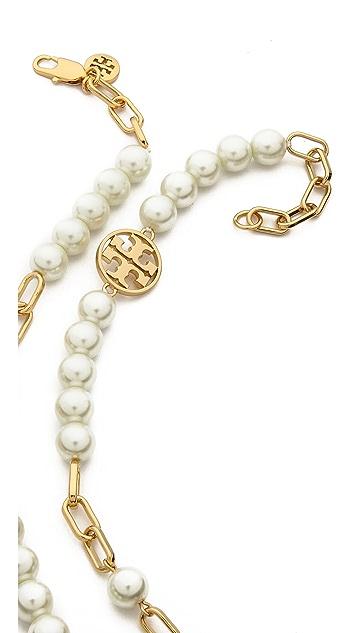 Tory Burch Tilde Logo Rosary Necklace