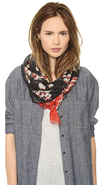 Tory Burch Field Flower Oblong Scarf