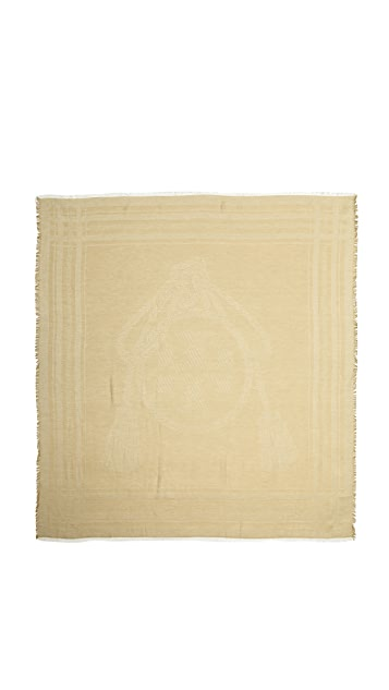 Tory Burch Logo Rope Square Scarf