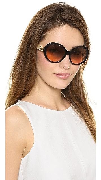 Tory Burch Round T Ring Sunglasses