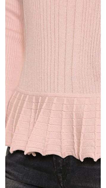 Tory Burch Sienna Peplum Sweater