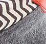 Zigzag A/Dark Grey/Poppy