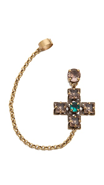 Tory Burch Jeweled Drop Earring Cuff