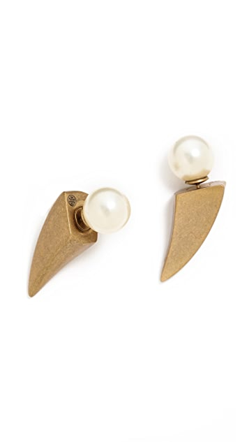 Tory Burch Horn Stud Earrings