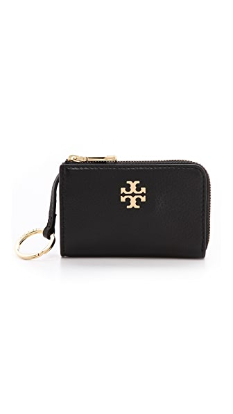 Tory Burch Mercer Half Zip Card Case