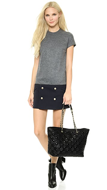 Tory Burch Marion Quilted Small E / W Tote