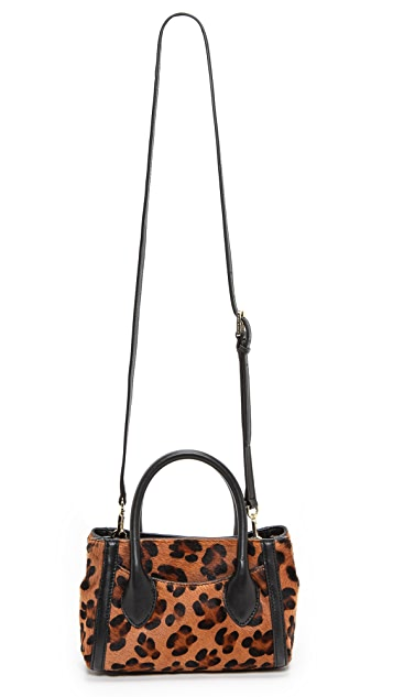 Tory Burch Savannah Tiny Tote with Haircalf