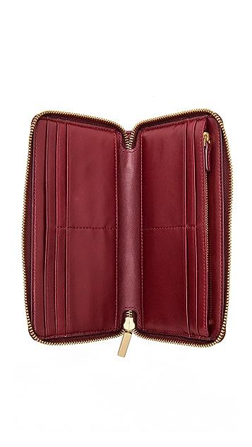 Tory Burch Fleming Open Flat Zip Continental Wallet