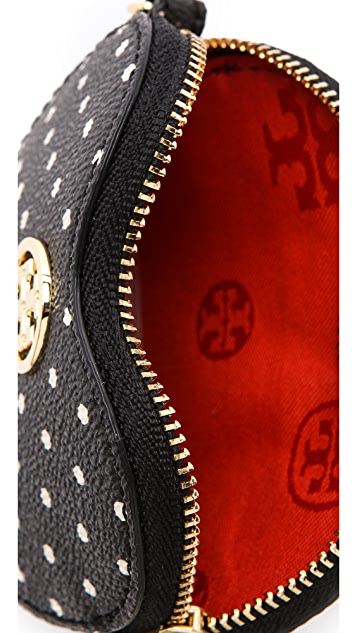 Tory Burch Printed Heart Coin Case