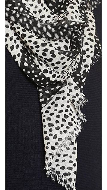 Tory Burch Dotted Pony Logo Scarf