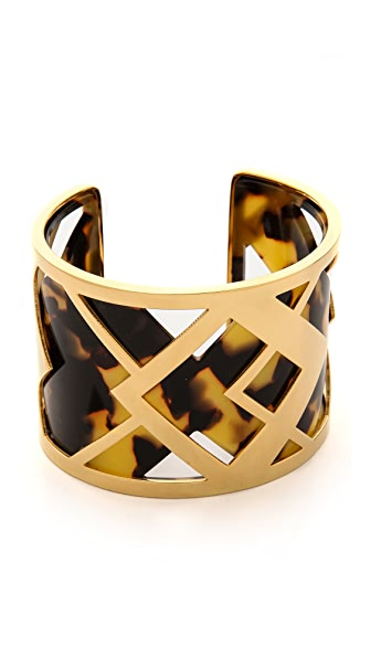 Tory Burch Aslin Resin Cuff Bracelet