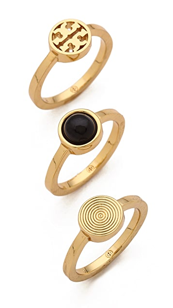 Tory Burch Livia Stacked Ring Set