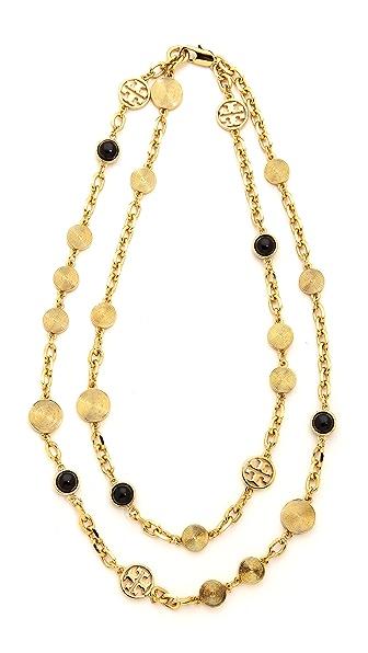 Tory Burch Livia Double Strand Necklace