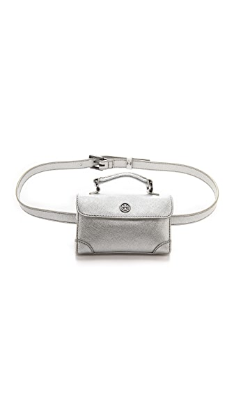 Tory Burch Robinson Metallic Waist Pack Belt