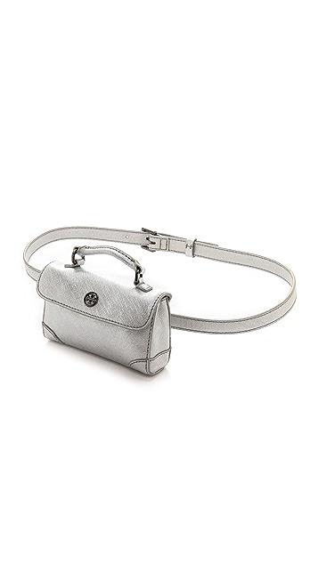 Tory Burch Robinson Metallic Waist Pack Belt