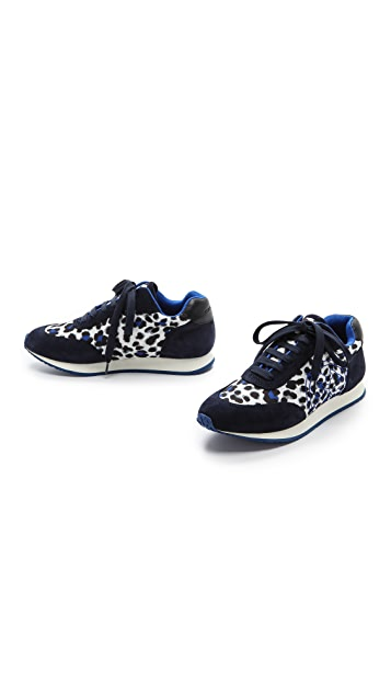 Tory Burch Delancy Leopard Sneakers