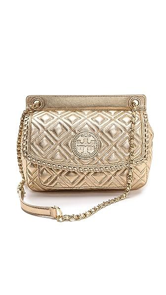 Tory Burch Marion Metallic Quilt Small Bag
