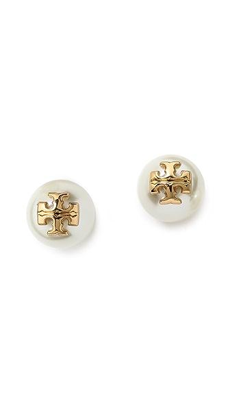 Tory Burch Evie Imitation Pearl Stud Earrings