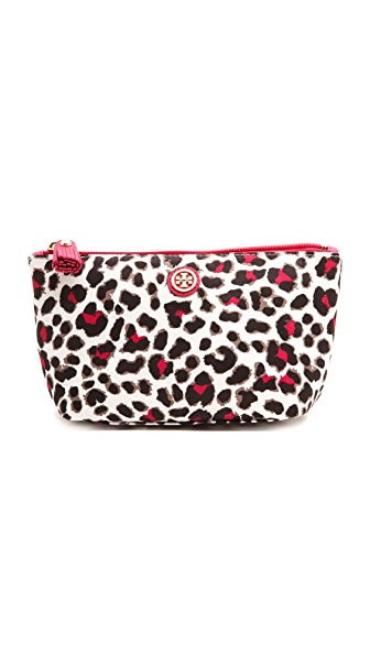 Tory Burch Printed Nylon Trapeze Cosmetic Case