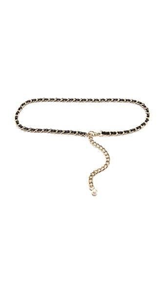 Tory Burch Pearl Chain Belt