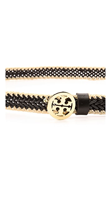 Tory Burch Leather Weave Belt
