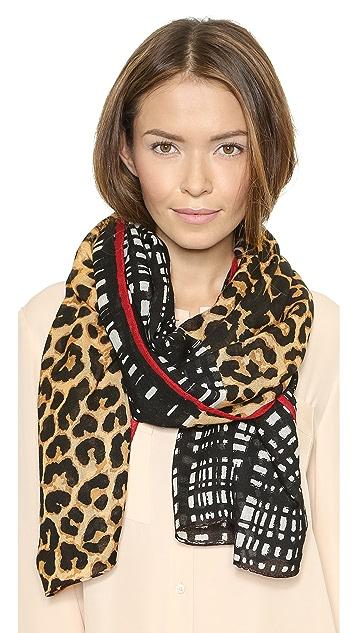 Tory Burch Leopard Mix Print Scarf