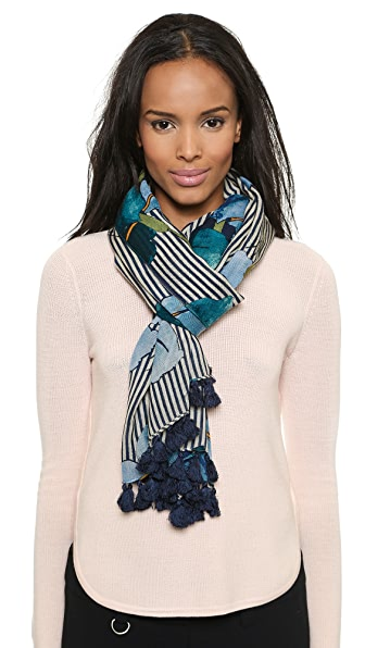 Tory Burch Persica Striped Scarf