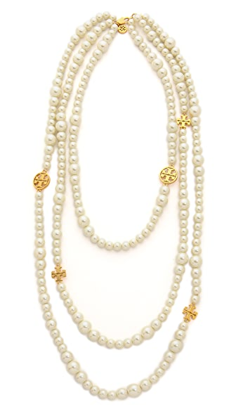 Tory burch evie multi strand necklace shopbop for Tory burch jewelry amazon